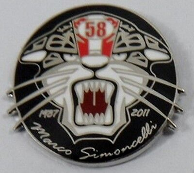 *NEW* Marco Simoncelli 'Cat' enamel badge. Super Sic, 58, Moto GP, Rossi