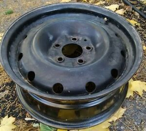 Set of 16-inch steel rims with 5x114.3 bolt pattern, $100