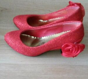 Red dance or wedding shoes size 5.5 for $30