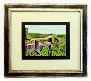 New Fence and Field Giclée Double Matted Framed Print