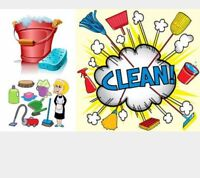 Cleaner available for houses/apartments