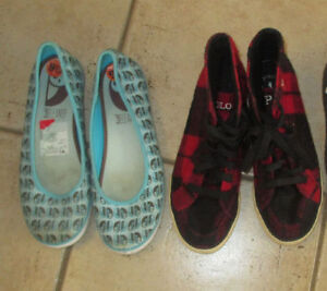 8 pairs of women's shoes (Keds+ others) size 9 Kitchener / Waterloo Kitchener Area image 1