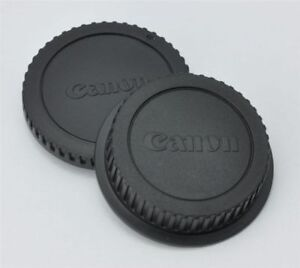Body and rear lens caps for Canon EF DSLRs 7D T6i 80D etc.