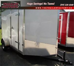 New Cargo Trailer 6'x10' V-Nose White, Financing Available