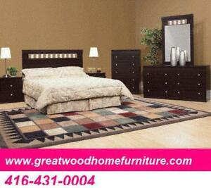 QUEEN SIZE 6 PIECE BEDROOM SET..$499..CHOICE OF COLOR