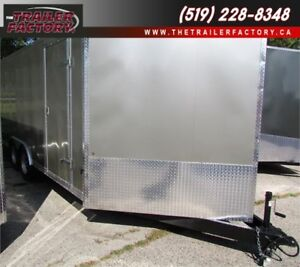 New Cargo Trailer 8.5'x16' V-Nose Pewter, Financing Available