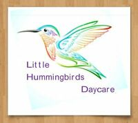 Little Hummingbirds Daycare ; 5 places available