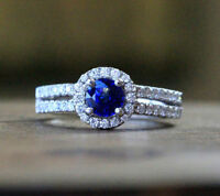 BRAND NEW SAPPHIRES AND 78 ROUND BRILLIANT CUT DIAMONDS 14KT WG