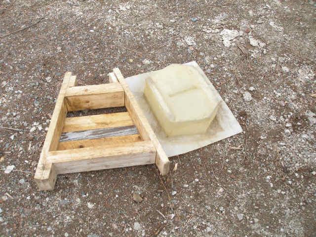 Retaining wall blocks mold, garden