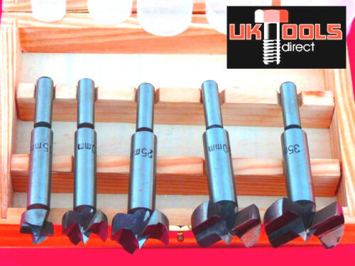 5PC FORSTNER DRILL BIT SET 15MM 20MM 25MM 30MM 35MM WOOD DRILLS