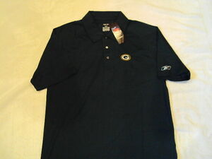 GREEN-BAY-PACKERS-Logo-NFL-Hunter-Reebok-Play-Dry-Polo-Sideline-Golf-Shirt-NEW