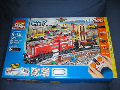 Lego City 3677 Red Cargo Train Lego 3677 In Box