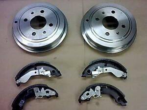 FIAT-PUNTO-MK2-1-2-BRAND-NEW-REAR-BRAKE-DRUM-DRUMS-X2-BRAKE-SHOES-99-05-ABS