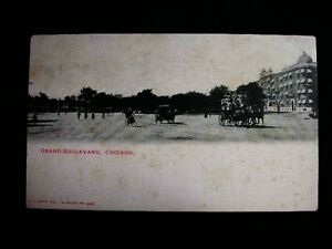 GRAND-BOULEVARD-CHICAGO-ILL-POST-CARD-1900s-4568m