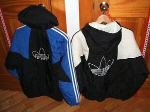 Two Adidas jackets, one white & black, one blue & black Sarnia Sarnia Area image 2