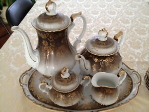 Eberthal West German Teaset with Dessert  Plates  VINTAGE