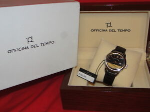 OFFICINA-DEL-TEMPO-ITALIAN-21-JEWELS-MODERN-MENS-STAINLESS-STEEL-DRESS-WATCH