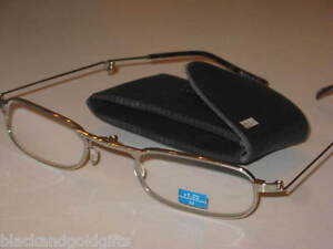 silver folding eyeglasses reading glasses 1 25 cheaters