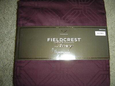 Fieldcrest Luxury Euro Sham - Burgandy 100% Cotton Brand