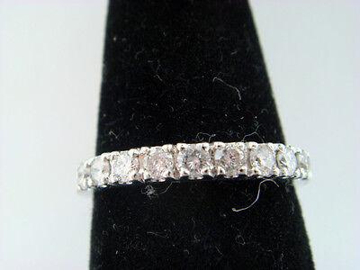 Womens Diamond Wedding Band Ring 0.38ct 14k White Gold Ring Size 5.5