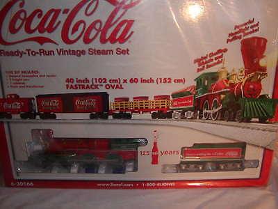 Lionel 6-30166 Coca Cola 125th Anniversary Vintage Steam Train Set O 027