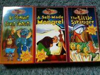 3 VHS Cartoon Tapes