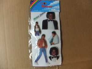 Michael Jackson Puffy Stickers vintage 80s Thriller Off the Wall new in package