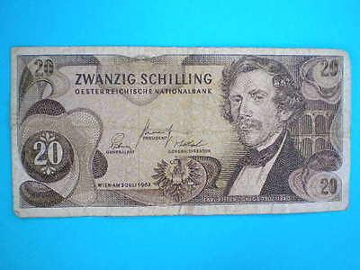 Austria 20 Zwanzig Schilling Banknote 1967