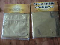 NEW gold bags food storage
