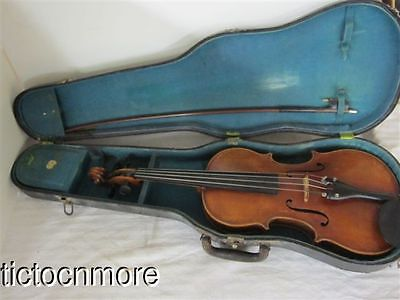 Vintage Antonius Stradivarius Cremonensis Faciebat Anno 1721 Violin Bow & Case