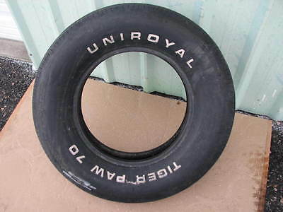 Nice Used G70-15 Uniroyal Tiger Paw Raised White Letter Muscle Car Tire
