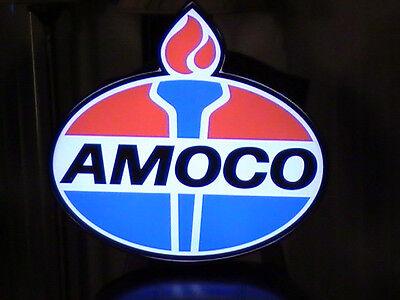 Amoco Lighted Sign