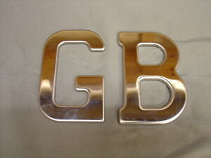 NEW MG RILEY FORD WOLSELEY STAINLESS GB BADGE