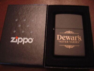 Dewar's never Varies White Label Blended Scotch Whiskey Zippo Lighter 2007