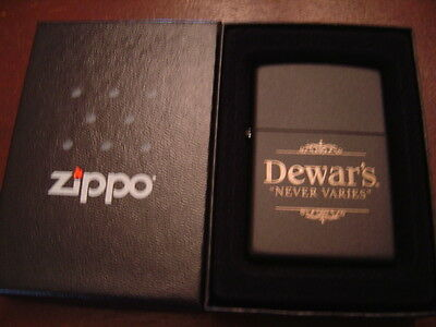 Dewar's never Varies White Label Blended Scotch Whiskey Zippo Lighter 2007