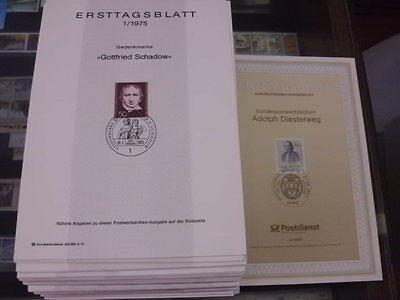 Sammlung, Berlin, ETB 1975-1990 komplett, Ersttagsblätter, gute Erhaltung