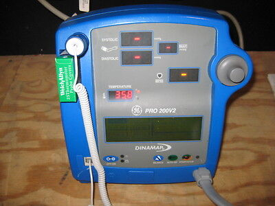 Ge Pro 200v2 Vital Signs Monitor With Non-invasive Blood Pressure Temp Printer