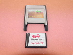 SANDISK-64MB-CF-CompactFlash-Memory-Card-PCMCIA-Adapter
