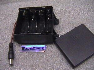 8AA BATTERY HOLDER PACK ENCLOSED 12V DC POWER PAK 2.1MM