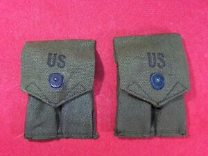 LOT-OF-2-US-GI-ARMY-MAGAZINE-MAG-POUCH-COLT-1911-1911A1-45-45-ACP-PISTOL