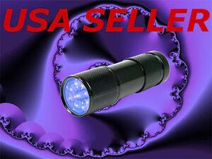 lot-of-2-UV-903-Ultra-Violet-9-LED-UV-BlackLight-Flashlight