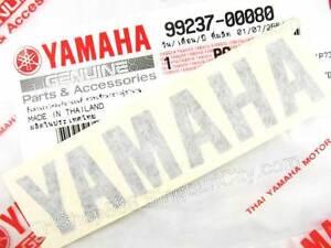 80x18mm YAMAHA  STICKER EMBLEM SIDE COVER FENDER COWLING HELMET 99237-00080