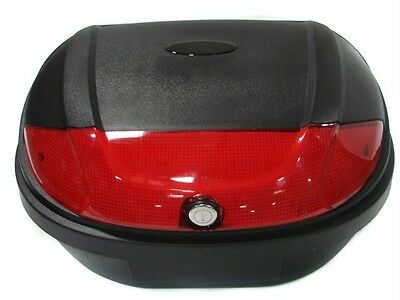 Universal X-large Motorcycle Scooter Trunk Luggage Top Case Hard Tail Box Black on Sale