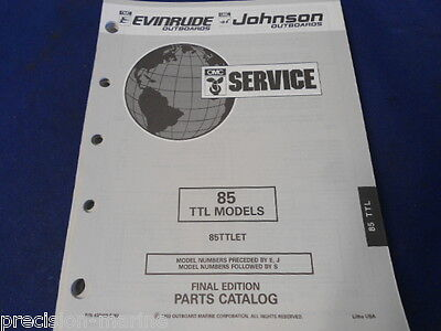 1990/1993, 85 TTL Models, Parts Catalog OMC Evinrude Johnson
