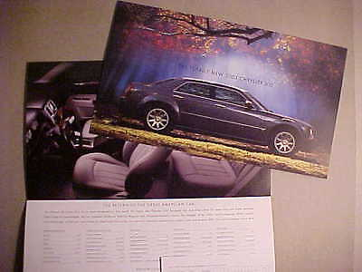2005 Chrysler 300 Series Second Version Introductory Sales Folder NEW
