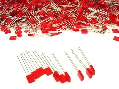50pcs Red Rectangular Bar Graph Stackable Led Leds Lamps Lights Diy Projects