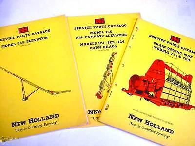New Holland 735 765 Grain Drying Bins 121 122 124 545 Elevator Manuals