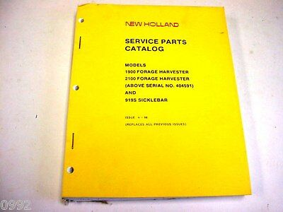 Large New Holland 1900 2100 Forage Harvester 919s Sicklebar Manual