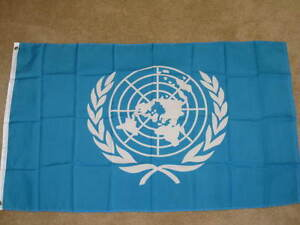 3X5 UNITED NATIONS FLAG! UN FLAGS WORLD PEACE F394
