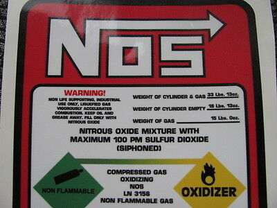 Hard To Find, High Quality, 15 Nitrous Bottle Tank Label Replacement Decal